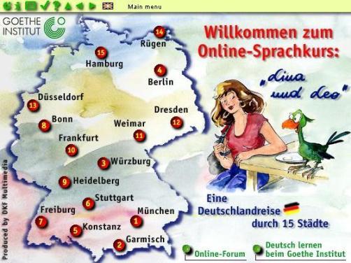 Lina und Leo Online-Deutschkurs Goethe-Institut