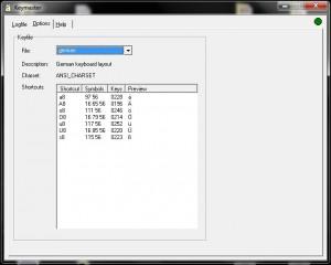 Keymaster - zrzut ekranu
