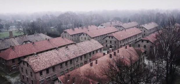 Dronem nad Auschwitz-Birkenau