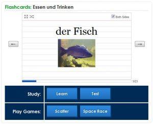 Fiszki - język niemiecki - flashcards