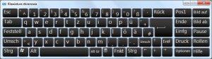 Niemiecka klawiatura ekranowa