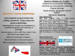Jak uzyskać certyfikat językowy zjęzyka angielskiego iniemieckiego? - ulotka 2