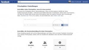 Facebook poniemiecku - ustawienia