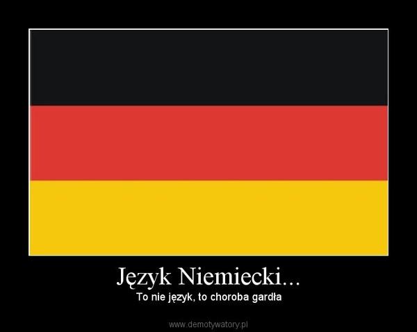 Język niemiecki - choroba gardła