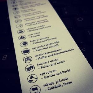 Niemiecki w karteczkach - kategorie
