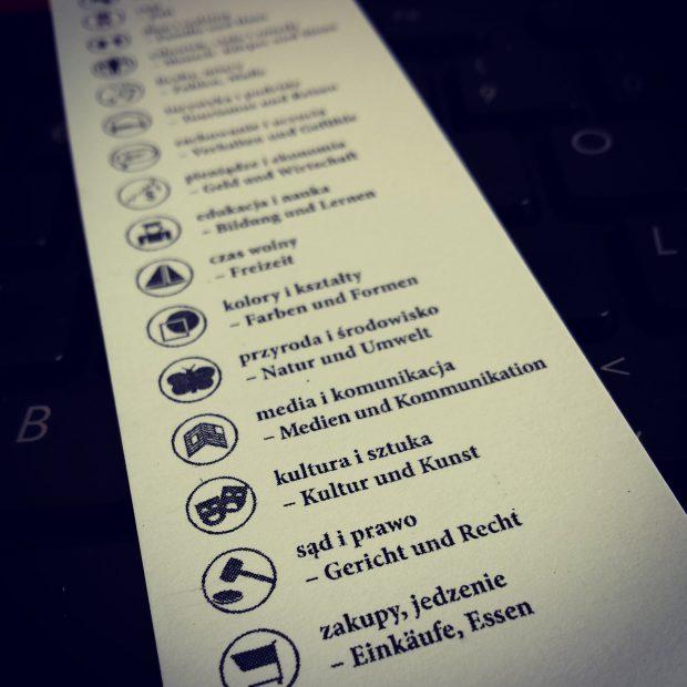 Niemiecki wkarteczkach - kategorie