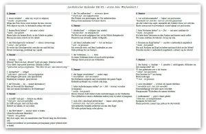 Lexikalischer Kalender 1