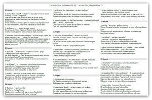 Lexikalischer Kalender 2