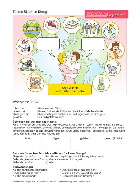 Ilustrowane arkusze dowykorzystania nalekcji niemieckiego