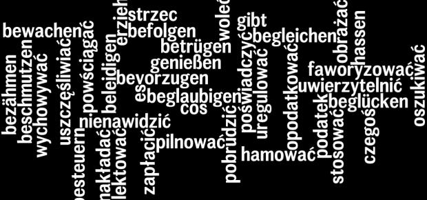 Czasowniki niemieckie występujące z biernikiem