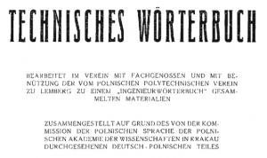 Słownik techniczny polsko-niemiecki z roku 1936 [pdf]