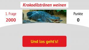 Krokodilstränen weinen