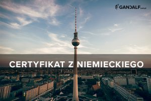 Certyfikat z niemieckiego